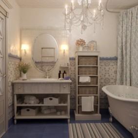 Дизайн ванной в квартире в стиле прованс