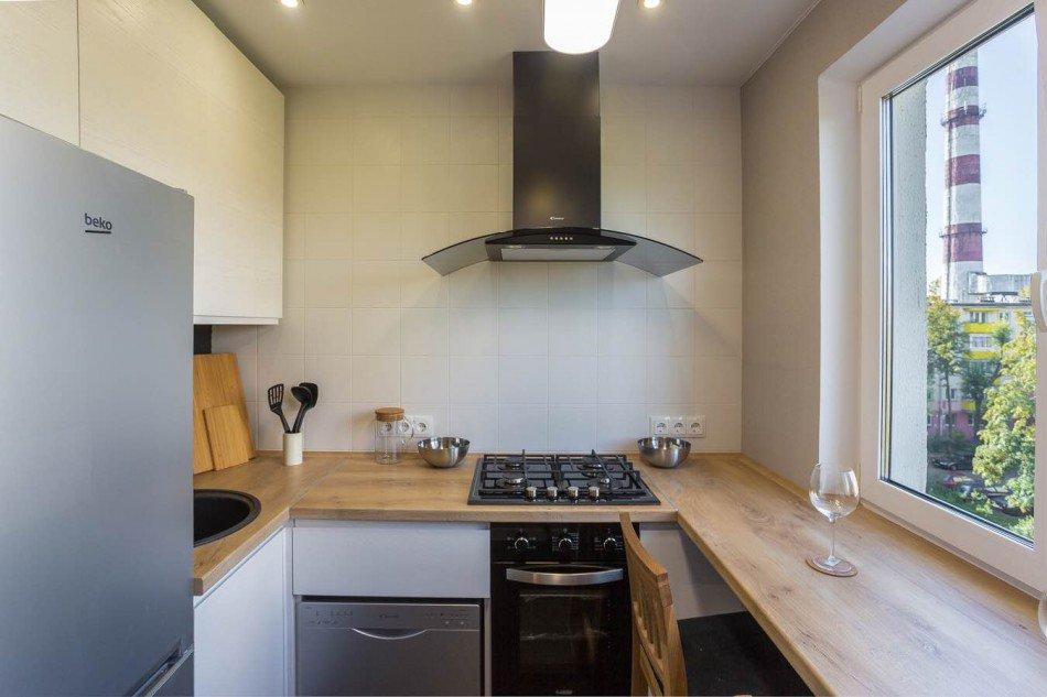 П-образная планировки кухни 6 кв м в старой хрущевке