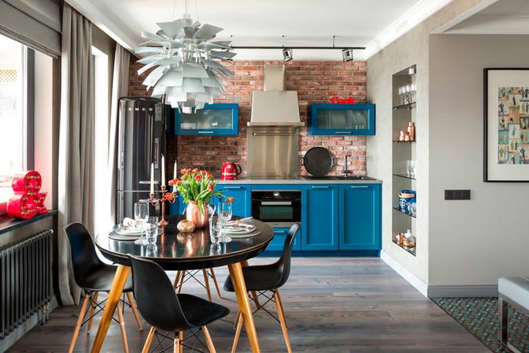 расстановка мебели и техники на кухне декор идеи