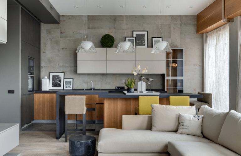 расстановка мебели и техники на кухне дизайн