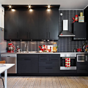 расстановка мебели и техники на кухне фото декор