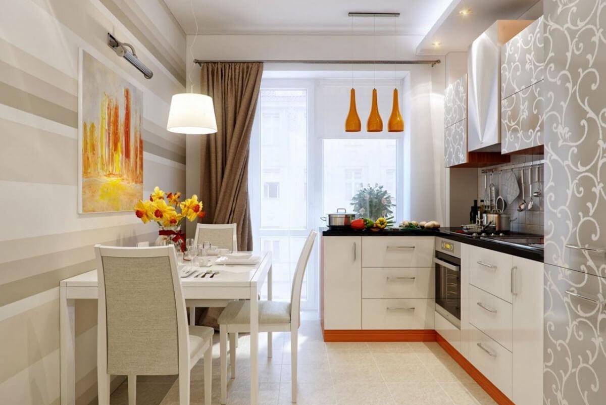 расстановка мебели и техники на кухне фото интерьер
