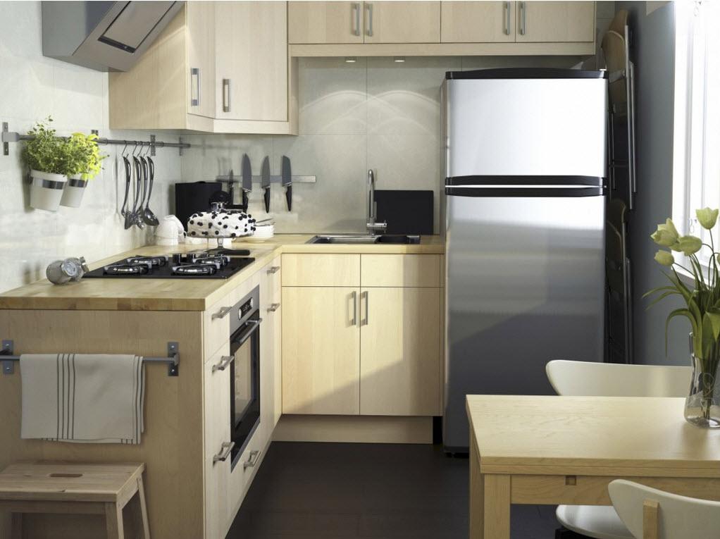 расстановка мебели и техники на кухне фото интерьера