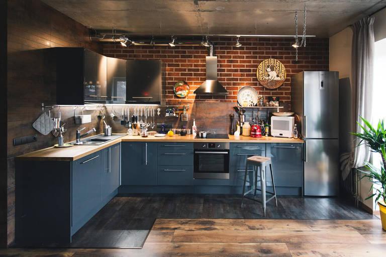 расстановка мебели и техники на кухне фото оформление