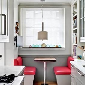 расстановка мебели и техники на кухне фото оформления