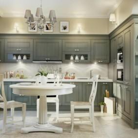 расстановка мебели и техники на кухне фото вариантов