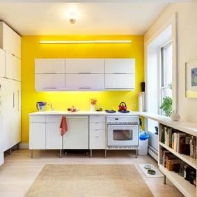 расстановка мебели и техники на кухне фото виды