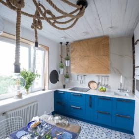 расстановка мебели и техники на кухне идеи