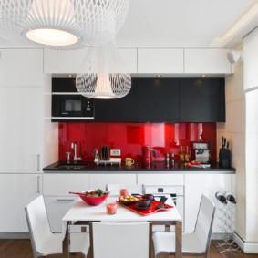 расстановка мебели и техники на кухне идеи интерьер