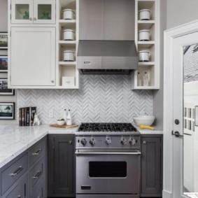 расстановка мебели и техники на кухне интерьер