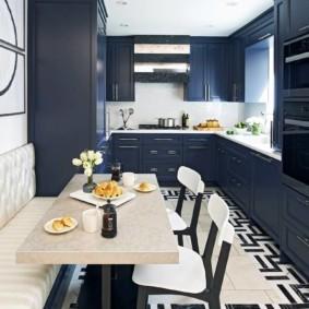 расстановка мебели и техники на кухне интерьер фото