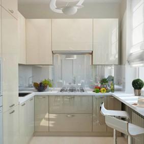 расстановка мебели и техники на кухне обзор