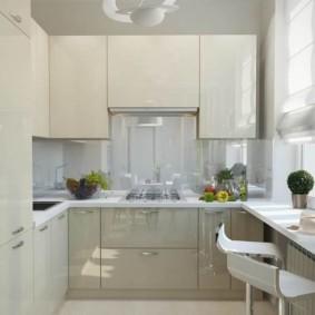 расстановка мебели и техники на кухне современный стиль