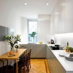 расстановка мебели и техники на кухне варианты интерьера