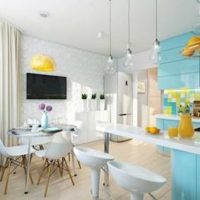 расстановка мебели и техники на кухне виды дизайна