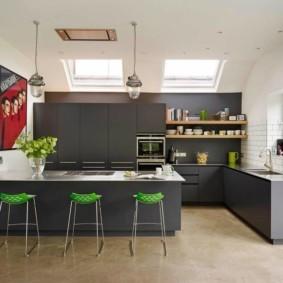 расстановка мебели и техники на кухне виды оформления