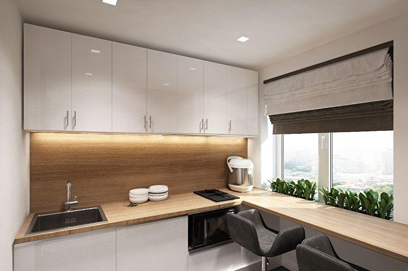 Дизайн компактной кухни в стиле минимализм