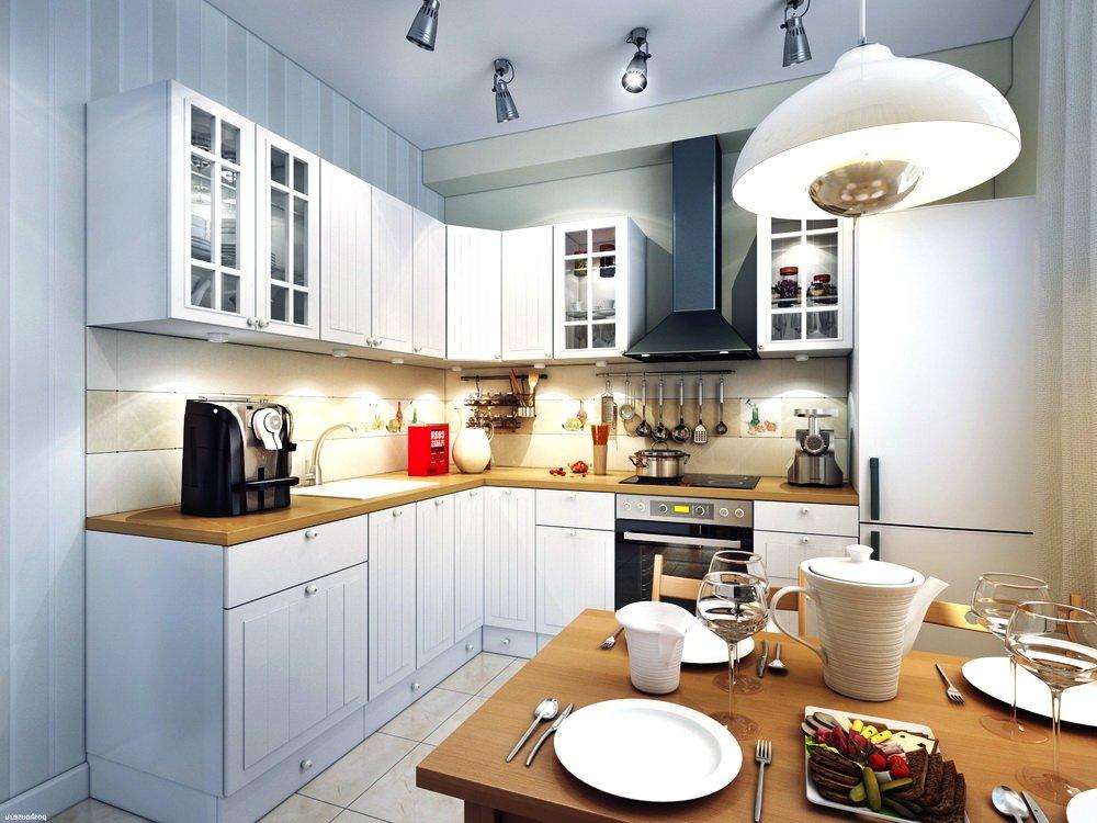 Поворотные софиты на потолке кухни