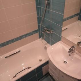раздельная ванная комната дизайн