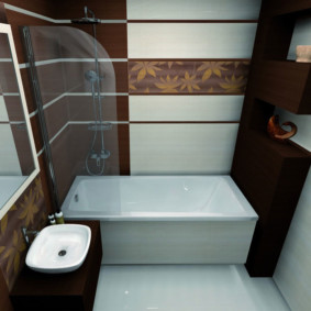 раздельная ванная комната дизайн фото
