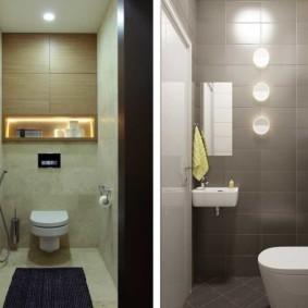 раздельная ванная комната интерьер фото