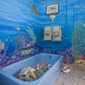 раздельная ванная комната декор фото
