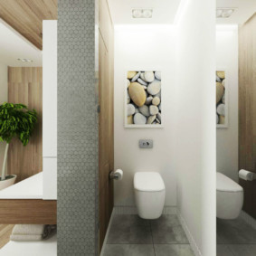 раздельная ванная комната декор идеи