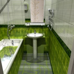 раздельная ванная комната фото декора