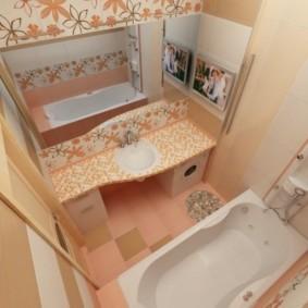 раздельная ванная комната фото вариантов