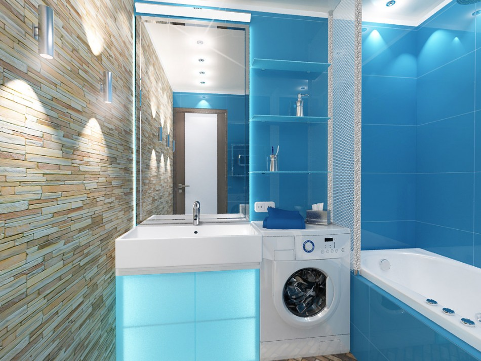 раздельная ванная комната идеи декора