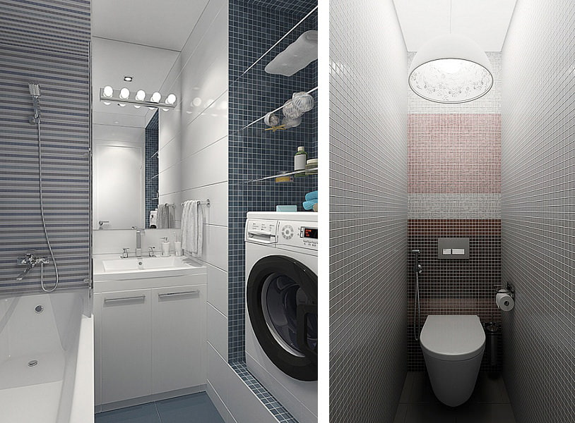 раздельная ванная комната идеи интерьера