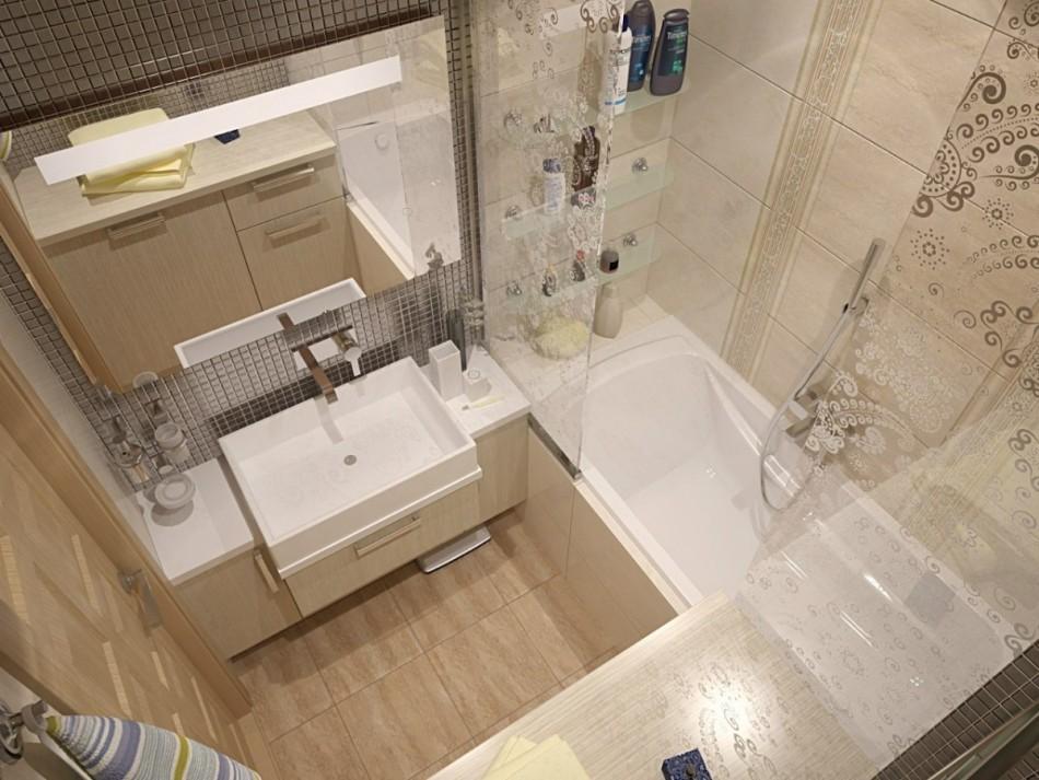 раздельная ванная комната интерьер