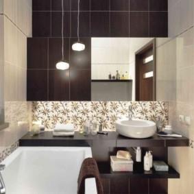 раздельная ванная комната оформление фото