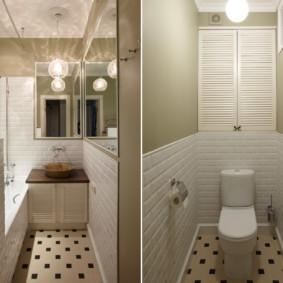 раздельная ванная комната варианты фото