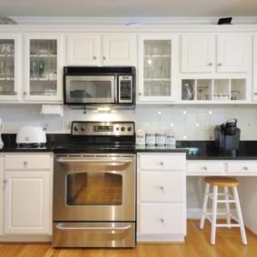 размещение микроволновки на кухне дизайн