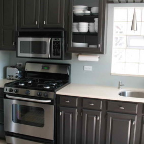размещение микроволновки на кухне фото идеи