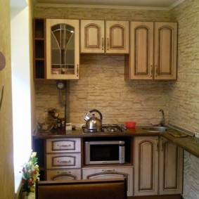 размещение микроволновки на кухне фото обзор