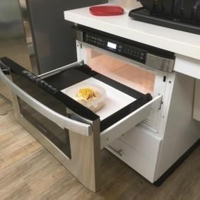 размещение микроволновки на кухне идеи интерьера