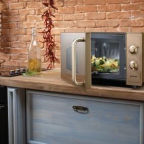 размещение микроволновки на кухне идеи оформление