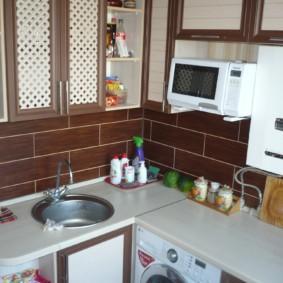 размещение микроволновки на кухне идеи оформления
