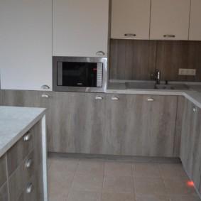 размещение микроволновки на кухне интерьер