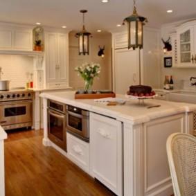 размещение микроволновки на кухне виды дизайна