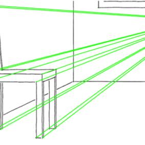 Рисование кухонного стула по правилам перспективы