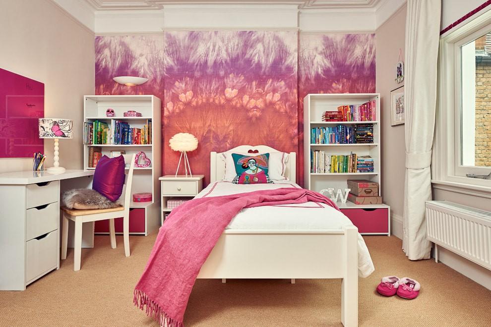 Интерьер комнаты для девочки в розовых оттенках