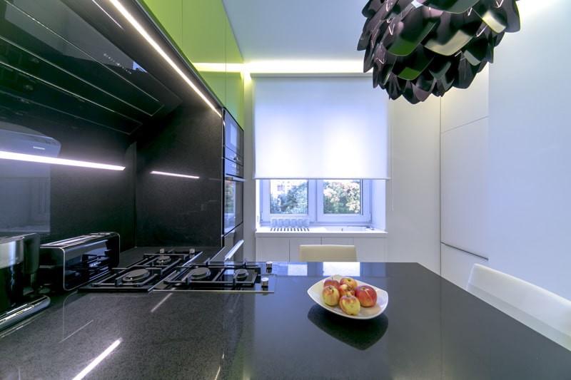 рулонные шторы на кухне фото дизайн