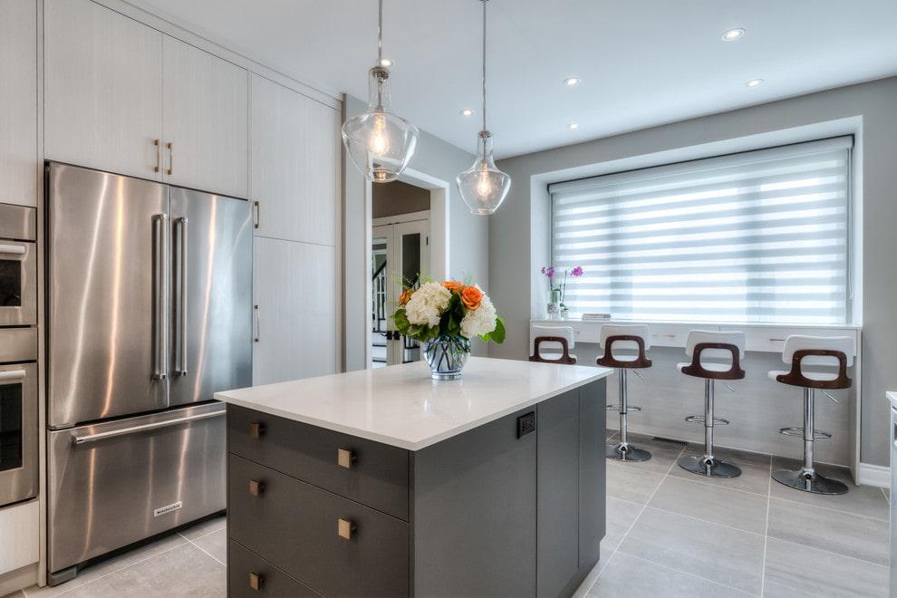 рулонные шторы на кухне идеи дизайн