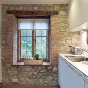 рулонные шторы на кухне фото варианты