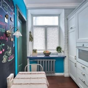 рулонные шторы на кухне идеи декор