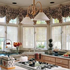 рулонные шторы на кухне идеи дизайна
