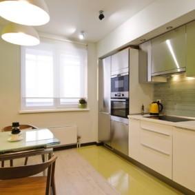 рулонные шторы на кухне идеи оформления